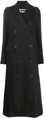 UMA WANG double-breasted long coat