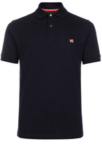 Paul Smith Men's Navy Cotton-Pique Flag-Motif Polo Shirt
