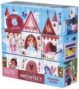 Crocodile Creek Little Architect Girl Builder Jumbo Block Mix and Match Stacking Set, 3.5f""