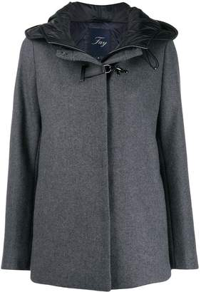 Fay buckle fastened hooded coat
