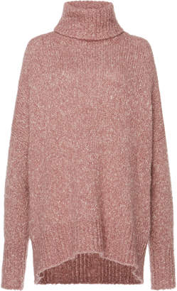 Etoile Isabel Marant Shadow Marled Cable-Knit Turtleneck Sweater