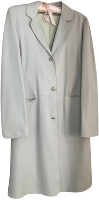 Armani Collezioni Ecru Leather Coats