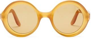 Lapima - Carolina Oversized Round Acetate Sunglasses - Light Yellow