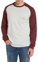 Vineyard Vines Men's Heathered Raglan Whale Logo T-Shirt