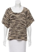 Ulla Johnson Short Sleeve Wool-Blend Sweater