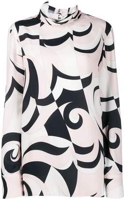 Emilio Pucci geometric pattern blouse