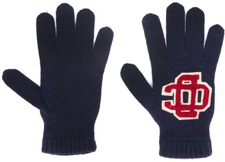 DSQUARED2 Embroidered Logo Wool Gloves