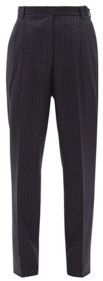 Giuliva Heritage Collection The Cornelia Pinstriped Wool Trousers - Womens - Navy Multi