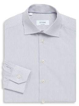 Eton Contemporary-Fit Stripe Cotton Dress Shirt