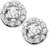 Diamond Flower Stud Earrings in 14k White Gold (1/2 ct. t.w.)