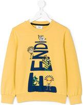 Fendi printed sweatshirt - kids - Cotton/Spandex/Elastane - 4 yrs