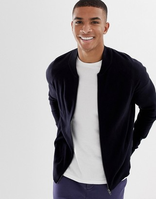 French Connection Zip Through Knitted Baseball Jacket