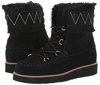 Jack Rogers Vera Suede Lace-Up Boot (Black) Women's Shoes