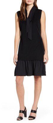 Ming Wang Ruffle Hem Sleeveless Dress