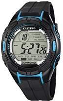 Calypso Men's Digital Watch with LCD Dial Digital Display and Black Plastic Strap K5627/2