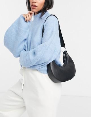 Monki Tyler vegan leather cross-body bag in black