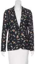 The Kooples Printed Notched-Lapel Blazer