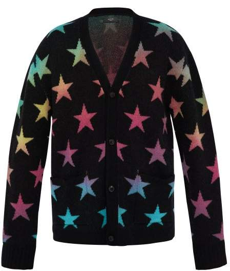 Amiri Star Jacquard Knit Cashmere Blend Cardigan - Mens - Multi