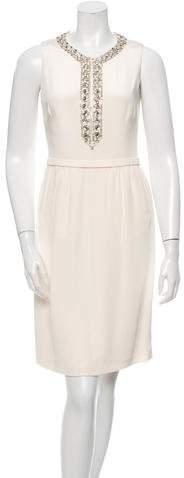Azzaro Embellished Silk Dress
