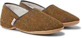 Derek Rose Crawford Shearling-Lined Harris Tweed Slippers