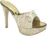 AnnaKastle Womens Glitter High Platform Heel Mule Slipper Party Shoes