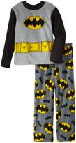 AME Sleepwear Batman Big Boys' 2 Piece Fleece Pajama Set