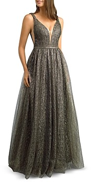 Basix II Metallic Lace Gown