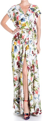 Meghan La Jasmine Floral Slit Maxi Dress