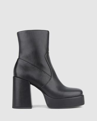 betts Python Platform Ankle Boots