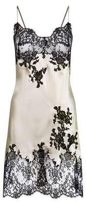 Marjolaine Caprice Lace Detail Silk Chemise