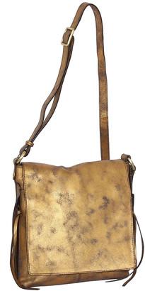 Nino Bossi Handbags Women's Handbags Bronze - Bronze Crystal Leather Crossbody Bag