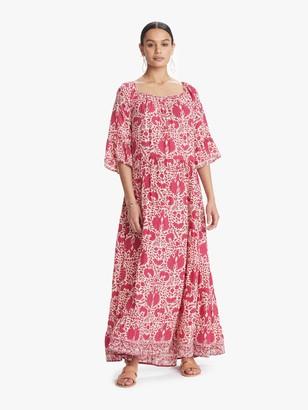 Natalie Martin Mesa Maxi Dress - Bougainvillea Pink