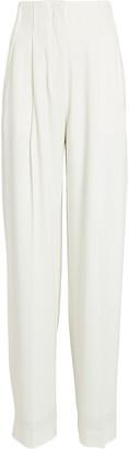 Proenza Schouler Textured Crepe High-Waist Pants