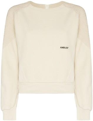 Ambush logo printed fleece sweatshirt