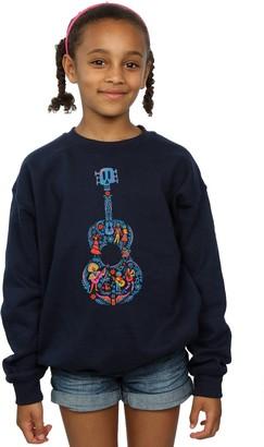 Disney Girls Coco Guitar Pattern Sweatshirt 5-6 Years Navy Blue