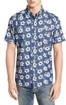 7 Diamonds Ashbury Floral Denim Sport Shirt