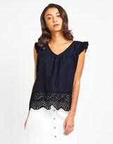 Naf Naf Embroidered Sleevless Shirt
