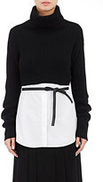 Valentino Women's Virgin Wool-Cashmere Crop Sweater-BLACK