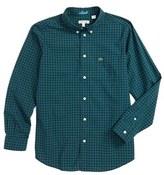 Lacoste Boy's Check Woven Shirt
