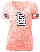 5th & Ocean Women's St. Louis Cardinals Space Dye Round Sleeve T-Shirt