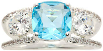 SPARKLE ALLURE Sparkle Allure Blue Pure Silver Over Brass