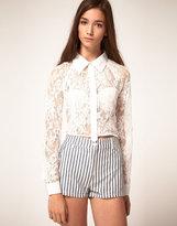 Cropped Lace Shirt