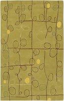 "Surya Caesar Dark Olive Green Rug Rug Size: Square 9'9"""