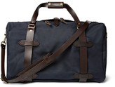 Filson Leather-trimmed Twill Duffle Bag - Navy