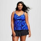 Aqua Green Women's Plus Size Wrap Flyaway Tankini - Aqua Green®