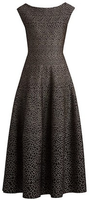 Alaia Sleeveless Boatneck Pattern Gown