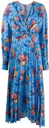 Magda Butrym Floral-Print Pleated Dress