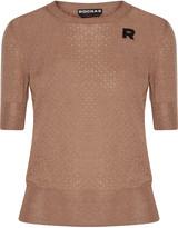 Rochas Pointelle-knit wool sweater