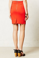 Anthropologie Scalloped Brink Pencil Skirt