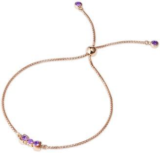 Tsai X Tsai San Shi Amethyst Bracelet 18 Ct Rose Gold Vermeil
